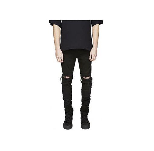Onitshamarket - Buy Men's Denim Slim Stretch Jeans - Black - Fashion Clothing