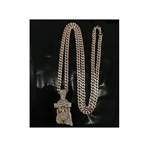 Onitshamarket - Buy Fashion Cuban Link Chain With Jesus Piece 05 Pendant