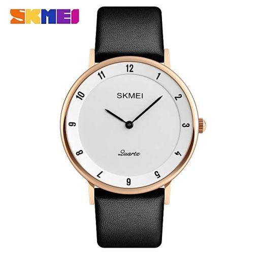 Onitshamarket - Buy Skmei Ultra Thin Wrist Watch, Luxury Leather Water Resistant Quartz Wristwatch Gift For Men Men's Watches