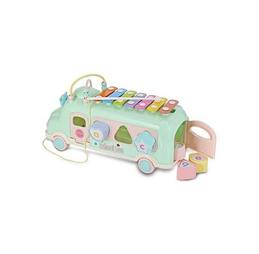 Onitshamarket - Buy Baby School Bus Toy Music Car And Percussion Piano Building Toys