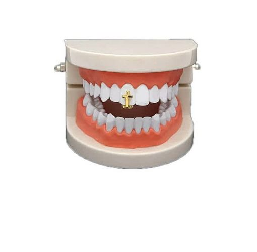 Onitshamarket - Buy Hip Hop Grillz Fashion Cross Shape Design Teeth Grillz