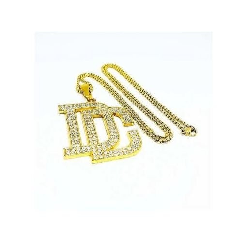 Onitshamarket - Buy Gold Chain With DC Pendant Men's Jewelry