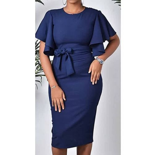 Onitshamarket - Buy Generic WittyMay Apparels Classy Navy Blue Dress