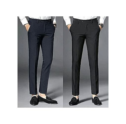 Onitshamarket - Buy Fashion Two Pieces Smart Trousers For Men - Black + Navy Blue