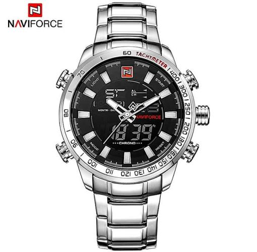 Onitshamarket - Buy Naviforce Men's Quartz Analog Waterproof Stainless Watches Men's Watches