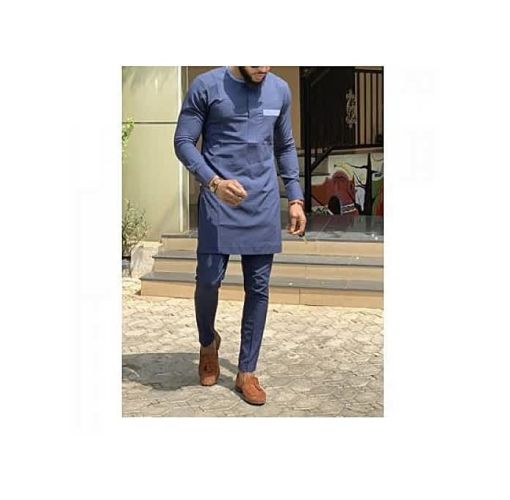 Onitshamarket - Buy Men's Blue Native Wear