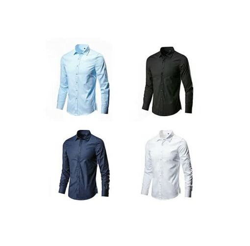 Onitshamarket - Buy Fashion Quality Four In One Smart And Fitted Corporate Plain Shirts - Multi Color.