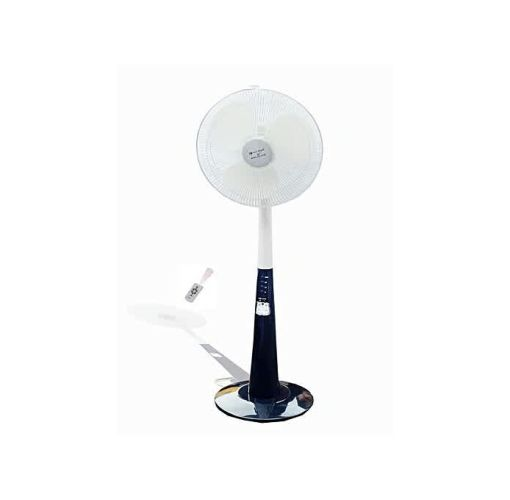 "Onitshamarket - Buy Rechargeable Standing Fan With Remote And Led Light 16"" Inches"