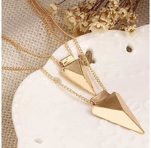 Onitshamarket - Buy Women's Two-layer Metal Pendant Chain Necklace Female Jewelry
