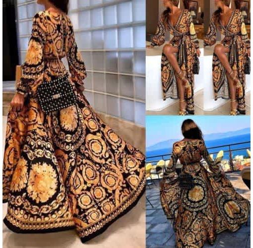 Onitshamarket - Buy Womens Autumn Boho Floral Long Sleeve Long Maxi Dress Party Beach Sundress Evening Dresses New
