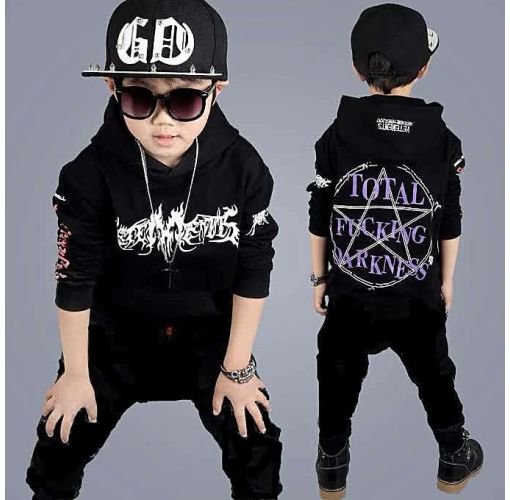 Onitshamarket - Buy New Autumn Boys And Girls Long-Sleeved Two-piece Suit Children's Wears