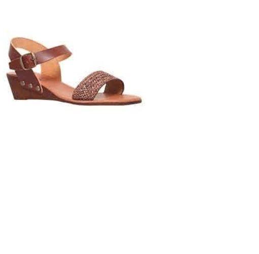 Onitshamarket - Buy Berte Brown Wedge Sandals