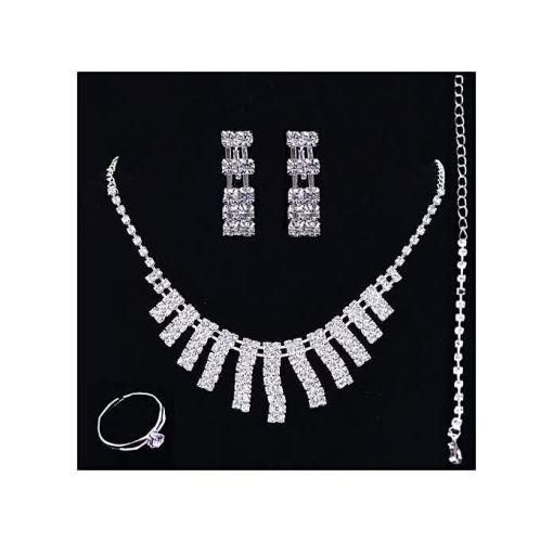 Onitshamarket - Buy Fashion Silver Jewelry Set; Fashion Necklace Earring Bracelet Ring Set