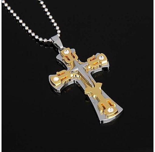 Onitshamarket - Buy Fashion Retro Men Cross Amulet Necklace Pendant