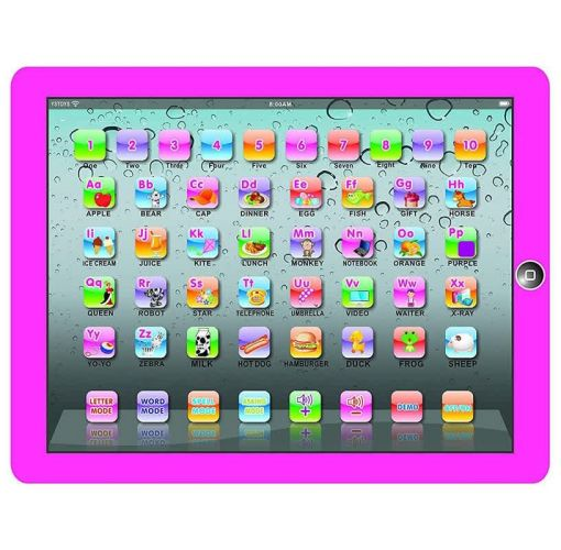 Onitshamarket - Buy Kids Tablet Pad Electronic Preschool English Learning Numbers Letters Teach Toy (Pink)