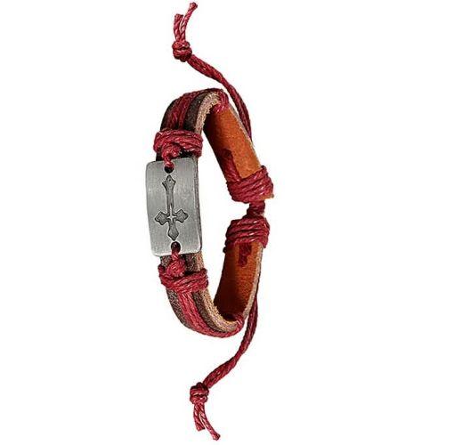 Onitshamarket - Buy Christian Leisure Men's Leather Bracelet