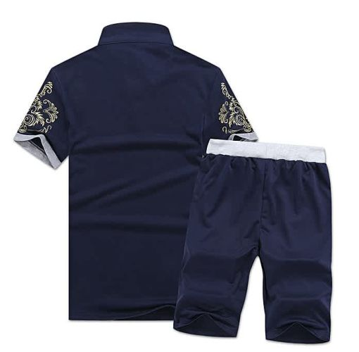 Onitshamarket - Buy Fashion 2 Piece Set Fashion Men's Short Sleeve Shorts-Dark Blue