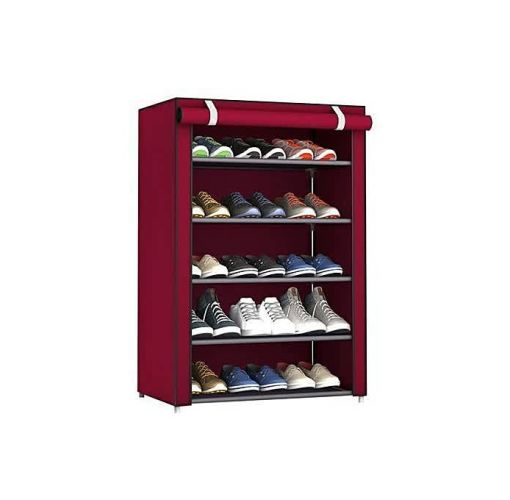 Onitshamarket - Buy 5 Step Shoes Rack With Fabric Cover