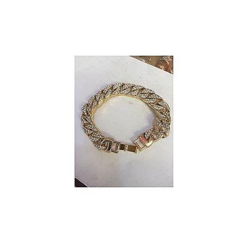 Onitshamarket - Buy Fashion Iced Cuban Men's Bracelets- Gold
