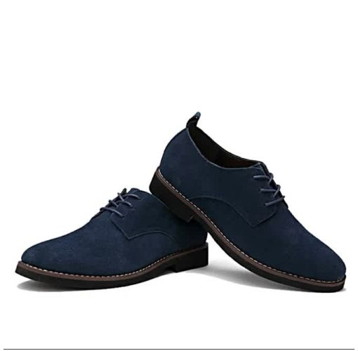Onitshamarket - Buy Unique Cow Suede Leather Luxury Brand Moccasins For Men- Blue