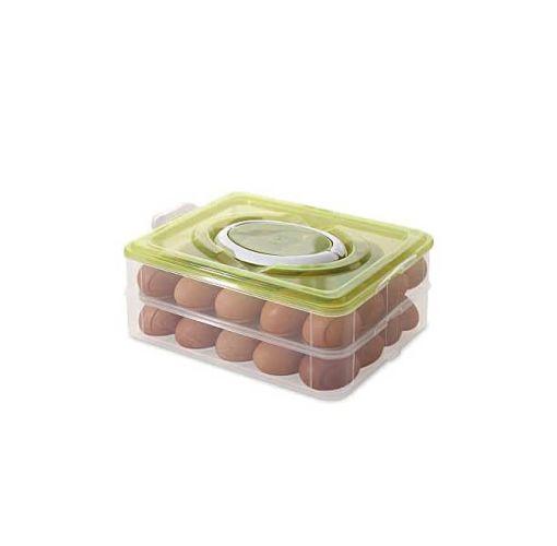Onitshamarket - Buy Universal Double Layer Plastic 32 Egg Storage Box With Handle