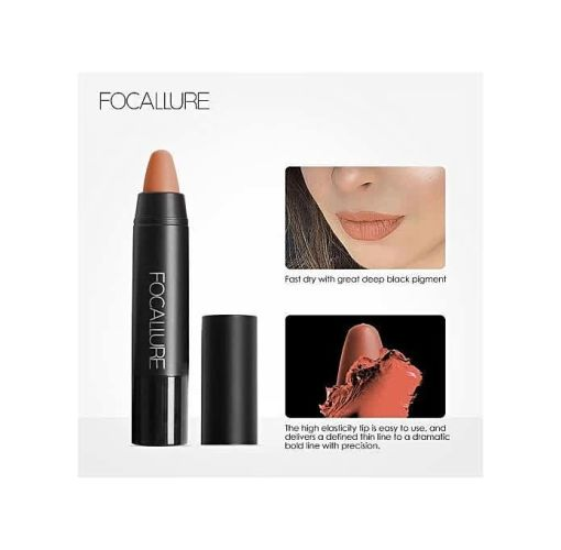 Onitshamarket - Buy FOCALLURE 19 Colors Matte Lipsticks Waterproof Matte Lipstick Lip Sticks Cosmetic Easy To Wear Lipstick Matte Batom Makeup