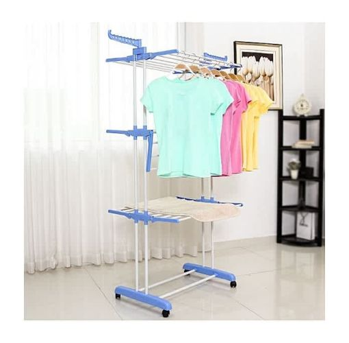 Onitshamarket - Buy Stainless Steel Three-layer Folding Clothes Dryer/Baby Hanger