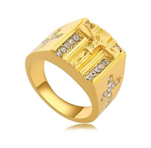 Onitshamarket - Buy Fashion Stylish 18K Gold Christian Jesus Ring Religious Men Ring