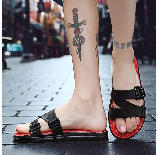 Onitshamarket - Buy KLYWOO Men's Sandals Slippers Slip On Shoes Men- Red