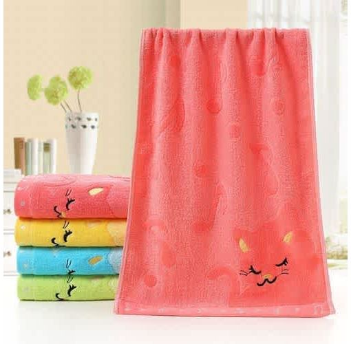 Onitshamarket - Buy Home Bathing Shower Cute Cat Child Towel Watchcloths and Towels