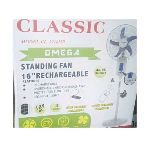 Onitshamarket - Buy Classic Electronics 16 Inches Rechargeable Standing Fan With Remote Control USB Port Fans
