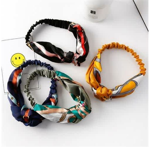 Onitshamarket - Buy Fasion Women Headscarf Elastic Headbands Scrunchy Double Color Stitching Cross Knot Hair Band Accessories for Women Tools & Accessories