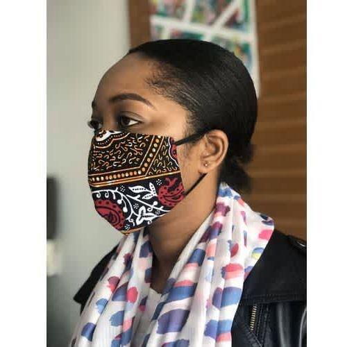 Onitshamarket - Buy Washable Ankara Face Masks Reversible -20 Pieces