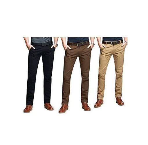Onitshamarket - Buy Fashion Three In One Smart Chinos Black + Chocolate Brown + Brown