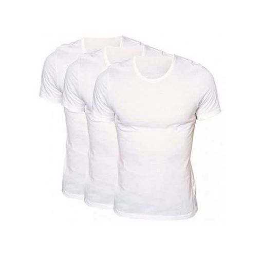 Onitshamarket - Buy Fashion Men's Fitted White Vest - Pack Of 3