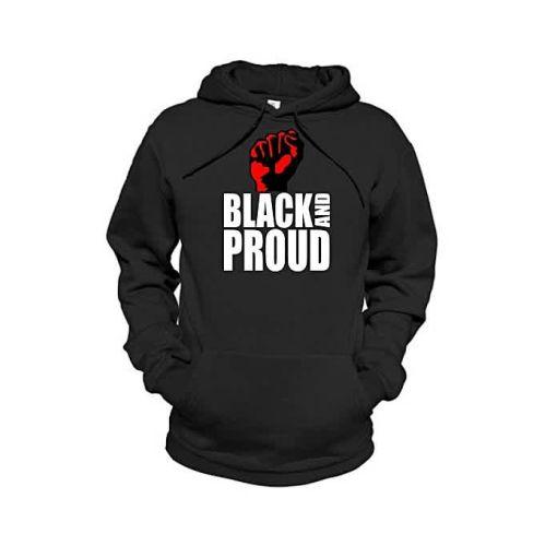 Onitshamarket - Buy Danami Black & Proud Printed Hoodie - Black Clothing
