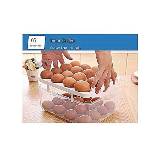 Onitshamarket - Buy Universal Double Layer Plastic 32 Egg Storage Box With Handle Kitchen Utensils & Gadgets
