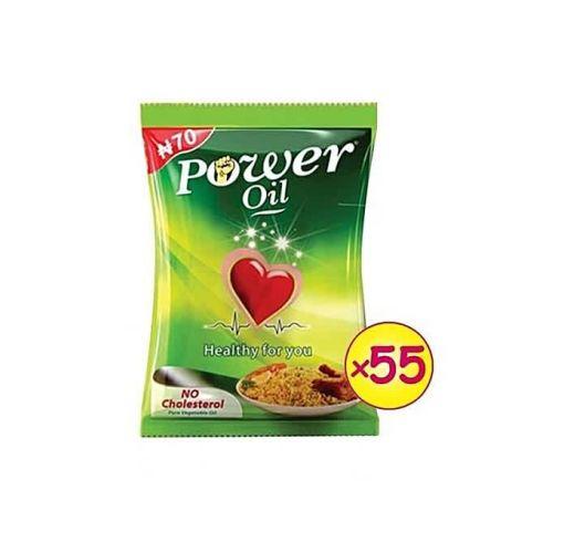 Onitshamarket - Buy Power Oil Zero Cholesterol Sachet Vegetable Oil 120ml - 55 Count (1 Carton)