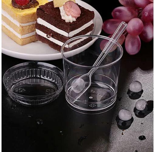 Onitshamarket - Buy Summer Disposable Smoothie Cup Lid Spoon Slush Dessert Ice Cream Supplies