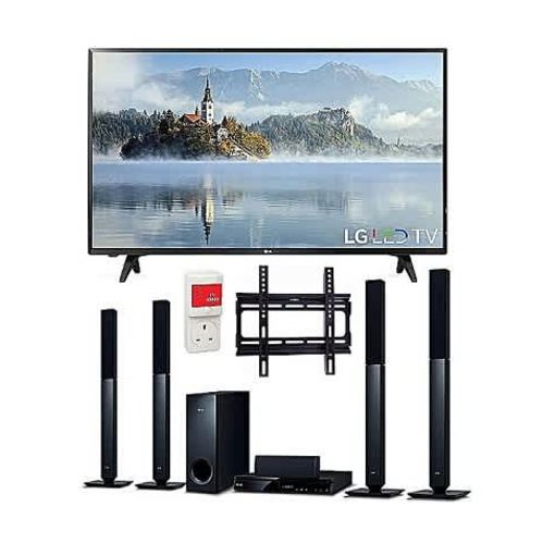 Onitshamarket - Buy LG 43-Inches FULL HD Digital LED TV & Bluetooth DVD Home Theatre With HDMI - LHD457B + Free Wall Mount & Surge