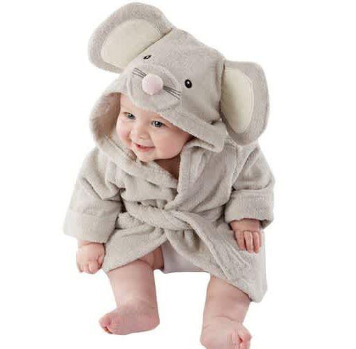 Onitshamarket - Buy Boy Girl Animal Baby Bathrobe Baby Hooded Bath Towel Infant Bathing Honey Baby Clothing