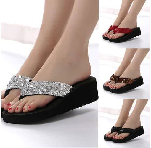 Onitshamarket - Buy Women Sequins Anti-Slip Sandals Slipper Indoor &amp: Outdoor Flip-flops
