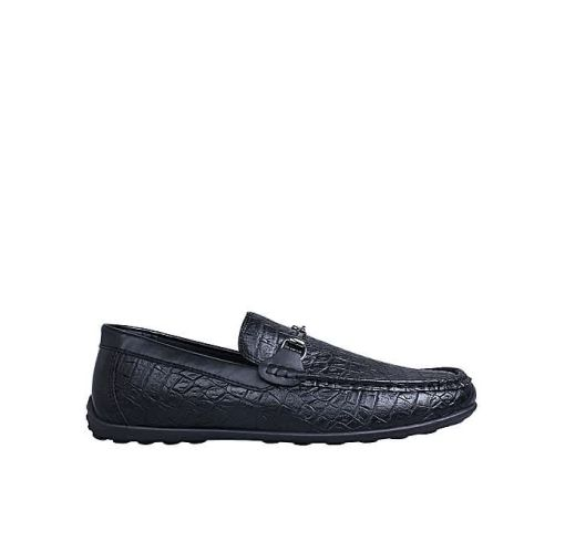 Onitshamarket - Buy Light Duty Leather Loafers - Black Formal Shoes