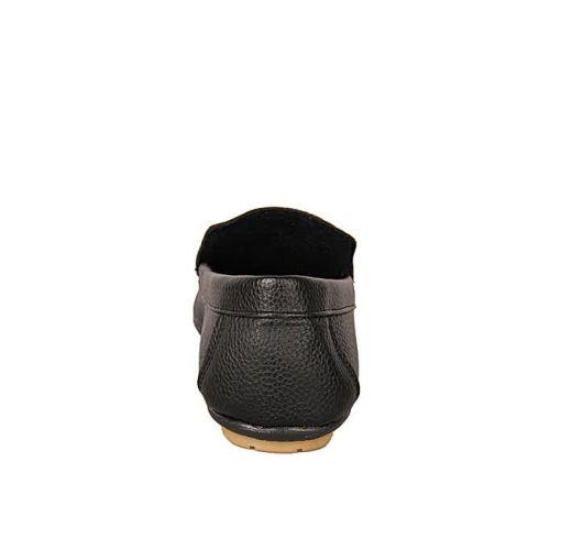 Onitshamarket - Buy Plain Casual Synthetic Leather Loafers - Black Casual Shoes