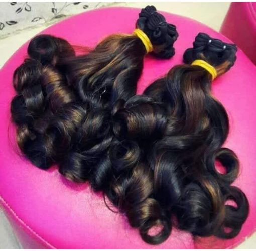 Onitshamarket - Buy Eurasian bouncy curls- 2 coloured combination Extensions, Wigs & Accessories