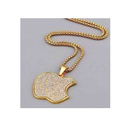 Onitshamarket - Buy Men's Stony Pendant And Necklace - Gold
