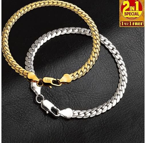 Onitshamarket - Buy Fashion 18K Silver & Gold Plated Chain Bracelet Accessories