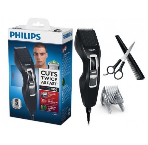 Onitshamarket - Buy Philips Hairclipper Series 3000 hair clipper HC3410/13 Stainless Steel Blades 13 Length Settings Corded use Scissors and Comb with DualCut Technology