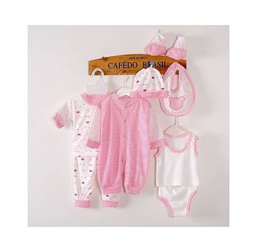 Onitshamarket - Buy Baby Love 8pcs Cotton Clothes Set For Newborn Babies - Pink