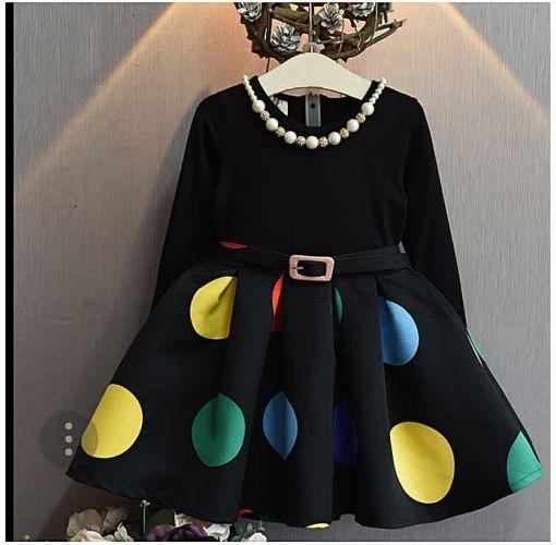 Onitshamarket - Buy Aile Rabbit Girl Dotted Belt Dress, Princess Dress Girls Wears / Gifts / Accessories